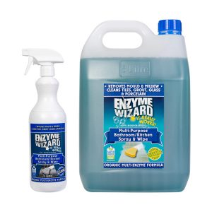 Enzyme Wizard Multi Purpose Bathroom Kitchen Cleaner Family