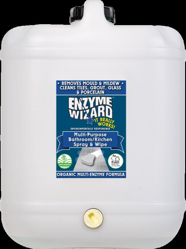 Enzyme Wizard Multi Purpose Bathroom Kitchen Spray Wipe 20l