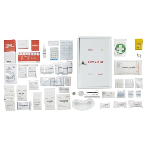 Mediq Essential Workplace Response First Aid Kit Cabinet Contents