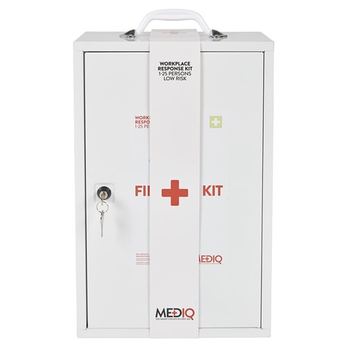 Mediq Essential Workplace Response First Aid Kit Cabinet Front