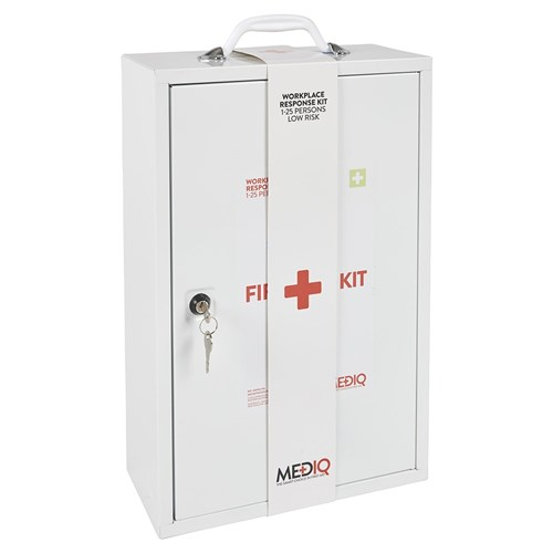 Mediq Essential Workplace Response First Aid Kit Cabinet Side