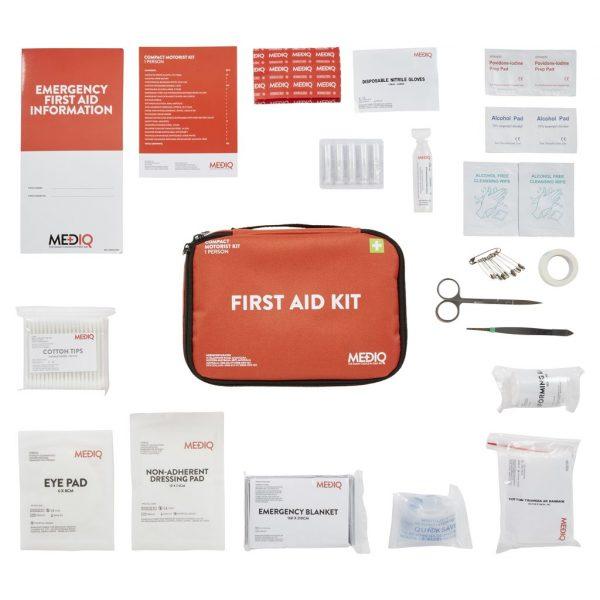 Mediq Motorist First Aid Kit Contents View