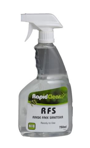 Rapid Clean Rinse Free Sanitiser 750ml