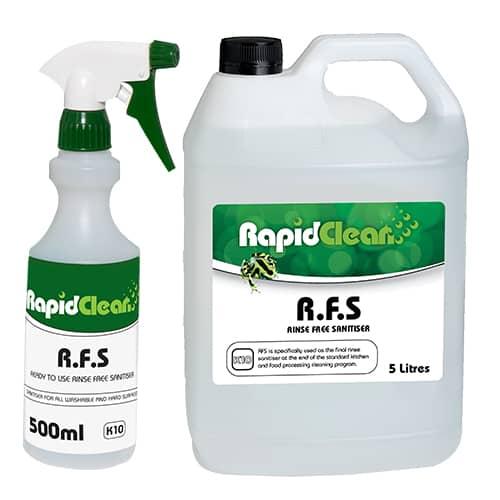 Rapid Clean Rinse Free Sanitiser Family