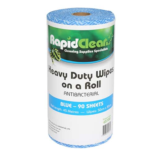 Rapid Clean Wipes On Roll Blue
