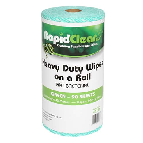 Rapid Clean Wipes On Roll Green