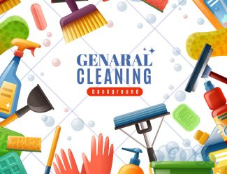 General Cleaning Frame Vector 14681894